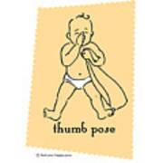 Thumb Pose Art Print