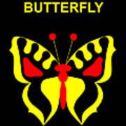 Thumbelina's Butterfly - Hans Christian Andersen Art Print