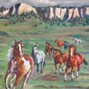 Thunder On The Pine Ridge Art Print