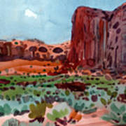 Thunderbird Butte Art Print
