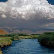 2a6738-thunderhead Over Owens River  Art Print