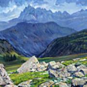 Thunderheads at Fox Creek Pass Art Print