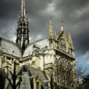 Thunderous Notre Dame Art Print