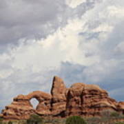 Thunderstorm Clouds Over Turret Arch Art Print