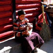 Tibetan Boy Art Print