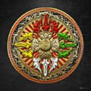 Tibetan Double Dorje Mandala Art Print