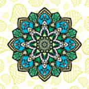 Tibetan Mandala Seamless Pattern Art Print