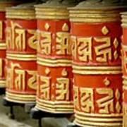Tibetan Prayer Wheel  Art Print