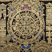 Tibetan Thangka - Tibetan Astrological Diagram Art Print