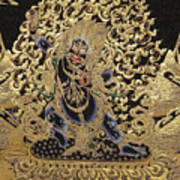 Tibetan Thangka - Vajrapani - Protector And Guide Of Gautama Buddha Art Print