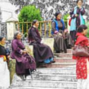 Tibetan Women Waiting Art Print