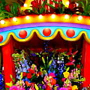 Ticket Booth Of Flowers Art Print