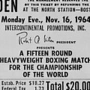 Ticket To World Championship Boxing Art Print