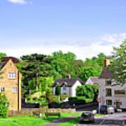 Ticknall Village From Ingleby Lane Art Print