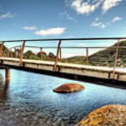 Tidal River Bridge Art Print