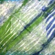 Tie Dye Art. Rainforest In Spring Art Print
