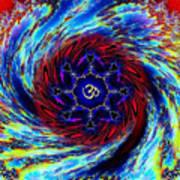 Tie Dyed Om Swirl Art Print