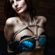 Tied In Lingerie - Bondage Fotoshooting Art Print