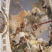 Tiepolo Palacio Real The Apotheosis Of The Spanish Monarchy Giovanni Battista Tiepolo Art Print