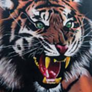 Tigar Snarl Art Print