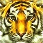 Tiger Painted Art Print