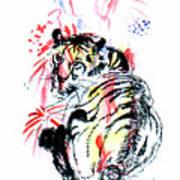 Tiger Siesta Art Print