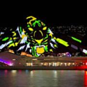Tiger Tiger Burning Bright - Sydney Vivid Festival Art Print