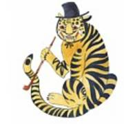 Tiger With Pipe Art Print