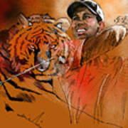 Tiger Woods Or Earn Your Stripes Art Print