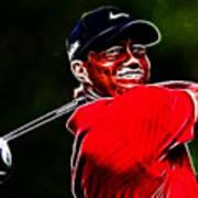 Tiger Woods Art Print by Paul Ward
