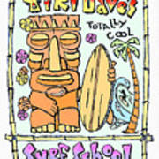 Tiki Dave's Art Print