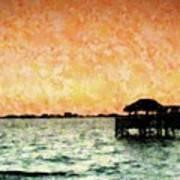 Tiki Sunset Art Print