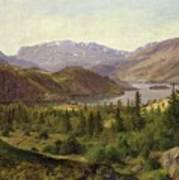 Tile Fjord Art Print by Louis Gurlitt