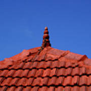 Tiled Roof Near Ooty, India Art Print