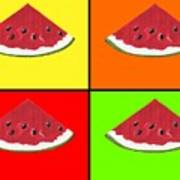 Tiled Watermelon Art Print