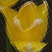 Tiled Yellow Tulip Art Print