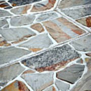 Tiles From Sandstone Quarried Stone Art Print