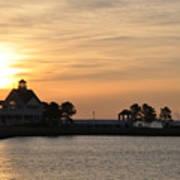 Tilghman Island Marina At Sunrise Art Print