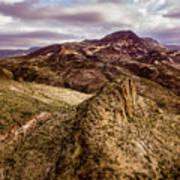 Tilt-shift Mountain Peak Art Print