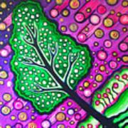 Tilted Into Cosmos Art Print by Brenda Higginson