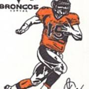 Tim Tebow 1 Print by Jeremiah Colley