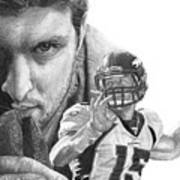 Tim Tebow Art Print by Bobby Shaw