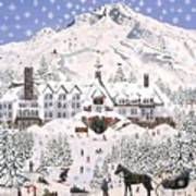 Timberline Lodge Art Print