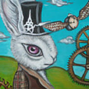 Time Flies For The White Rabbit Art Print by Jaz Higgins