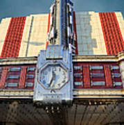 Time Theater Marquee 1938 Art Print