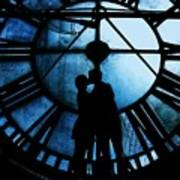 Timeless Love - Midnight Blue Art Print