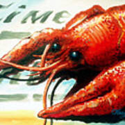 Times Picayune Crawfish Art Print by Terry J Marks Sr