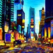 Times Square Art Print by Andrea Meyer