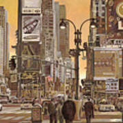 Times Square Art Print by Guido Borelli