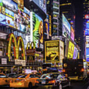 Times Square Pano Art Print